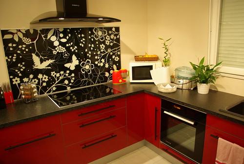 Que pensez vous de ma cuisine ikea abstrakt rouge 69 messages - Plateau cuisine ikea ...