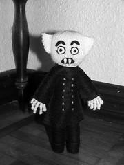 Nosferatu (elewa) Tags: cinema handmade vampire nosferatu knit craft felt plushie
