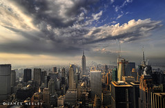 Looking Downtown (James Neeley) Tags: city nyc newyorkcity newyork downtown cityscape rockefellercenter hdr topoftherock 5xp flickr5 mywinners abigfave superbmasterpiece goldenphotographer jamesneeley bratanesque theperfectphotographer bestofbratanesque