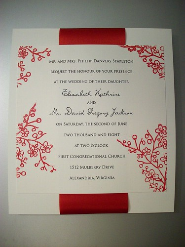 Red Bumble Bee Wedding Invitation, Red Framed Wedding Invitation, wedding cakes, flowers, invitation, photos, gowns, dresses
