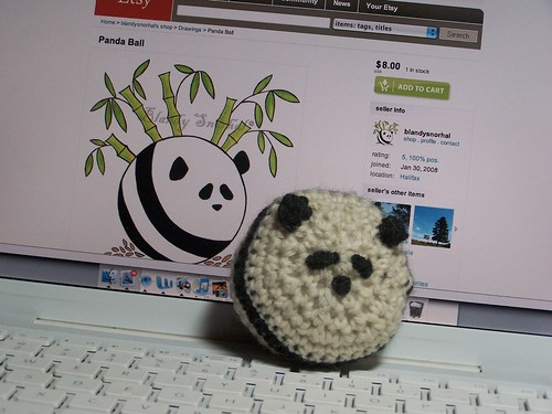 panda ball + etsy original