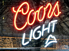 Coors Light reflection