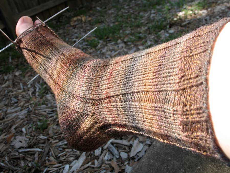 first handspun sock