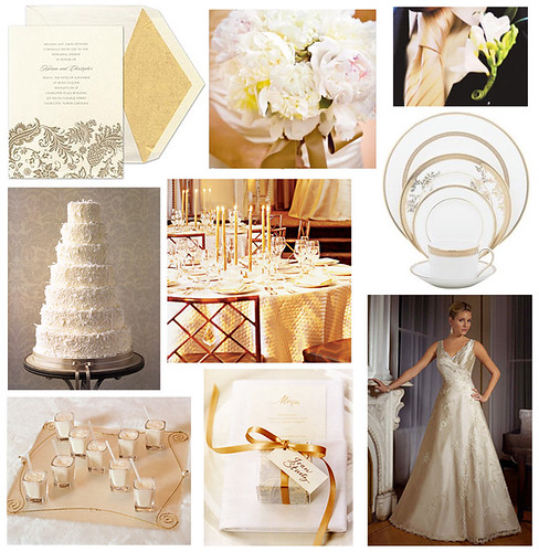 Here is a gold themed wedding very pretty table accents