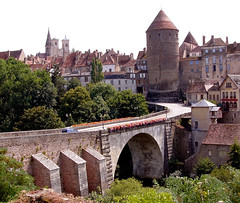 Semur-En-Auxois   Burgundy... My 100th post (keithhull ( Mostly offline for a while )) Tags: travel bridge france burgundy towers isawyoufirst frpix absolutelystunningscapes