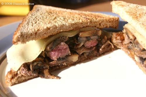 Steak Sandwich: The Inside Goodness