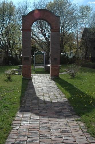 Italian Hall Massacre memorial arch