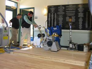 Healthy floor finishing training in Boston