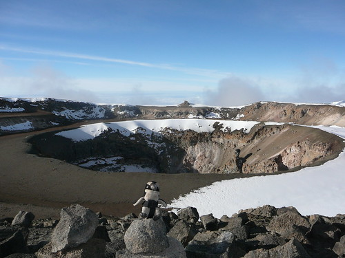 Pablito en el Crater del KILIMANJARO