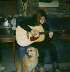 (ChristinaBrown) Tags: music dog cute dusty polaroid cool guitar cam jade 600