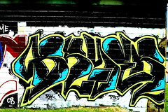 Day 172 - Bryer (Houston Graffiti) (Marco From Houston) Tags: street streetart art graffiti texas graf pad houston badge marco 365 graff pictureaday 366 project365 project366 marcofromhouston 2008yip