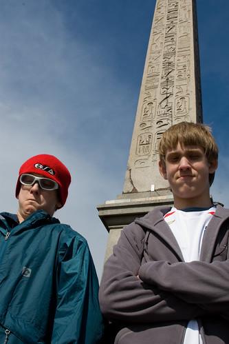 Boys at monolith