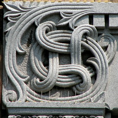 swirl  carving (origamidon) Tags: usa detail architecture burlington square vermont carving collegestreet grani