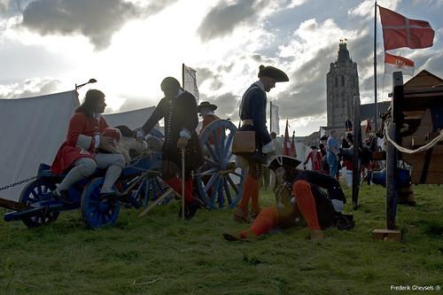 Slag bij oudenaarde tentenkamp
