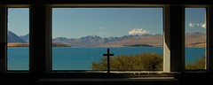 View from the altar of the 'Church of the good shepherd', Lake Tekapo (Jake&Sam) Tags: new church island view cross good south altar zealand shephard challengeyouwinner lpwindows lpwindows2