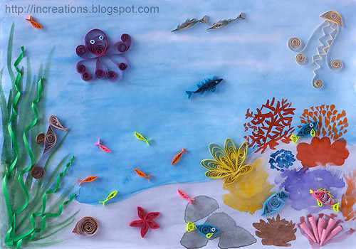 Under the sea. Quilling by Inna's Creations.