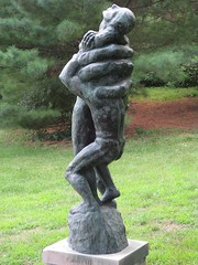 "Title: ""Cancer""Sculptor: Kaare NygaardAccessible to Public: yes, outdoorsLocation: President's GroundsOwnership: St. Olaf CollegeMedium: BronzeDimension: 6 feet  5 inches tall including baseProvenance: Gift of the artistYear of Installation: ca. 1960Physical Condition: Good"