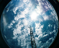 For some ascensions, God uses a crane (kevin dooley) Tags: old sky favorite cloud film beautiful museum analog 35mm wow lens book interesting fantastic flickr pretty angle very cloudy crane good gorgeous awesome extreme wide engine award superior indiana super best steam fisheye most winner stunning excellent much incredible breathtaking exciting phenomenal fisheye2 hesston virtualjourney book0