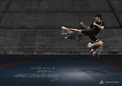 Adidas No one gets up when a whole country kicks
