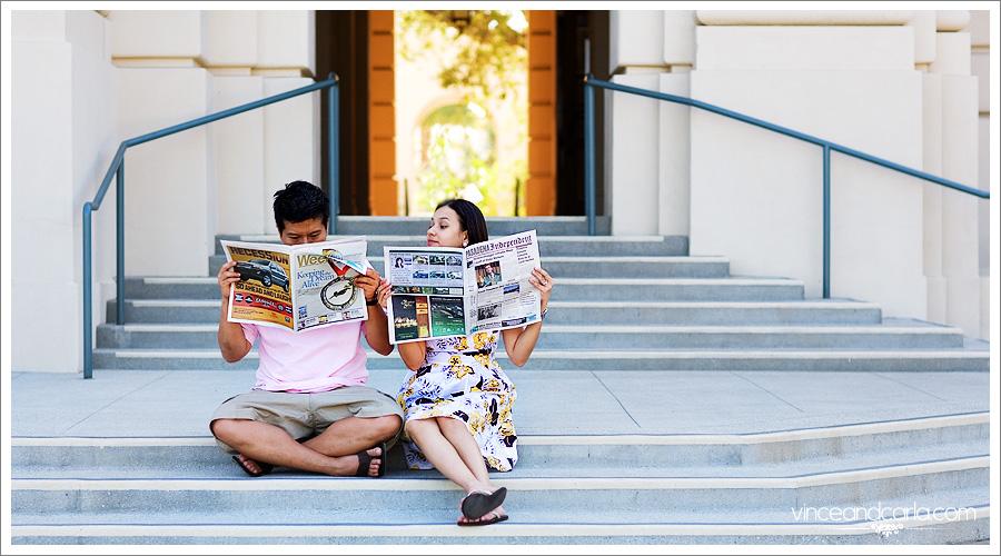 news 3 pasadena city hall engagement session wedding photographer e session california