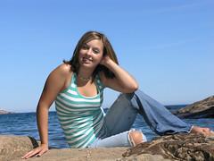 Nicole at Lake Superior (Blondieyooper) Tags: woman senior girl nicole lakesuperior valedictorian classof2008
