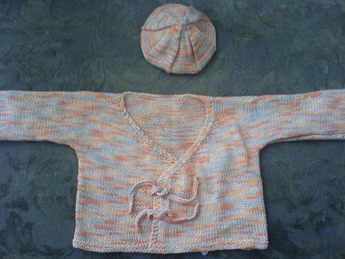 Baby Kimono and Gooseberry Hat