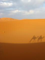 Our silhouettes, Sahara Desert, Morocco