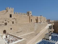 defensive walls of the ribat (cardbush) Tags: life africa christ fort tunisia brian tunis python fortress monty sahel monastir ribat skanes zeffrelli