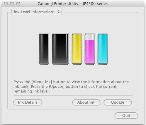 Canon IJ Printer Utility -- iP4500 series
