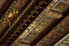 Ceiling of the Reading Room - New York Public Library (Scott Norsworthy) Tags: wood city usa newyork detail public rose architecture canon gold reading leaf paint manhattan library room main decoration ceiling ornate 2470l lightroom