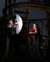 That's how you light a portrait (Ramūnas) Tags: shot setup portretas gela mindaugas vaiva strobist masla televykas