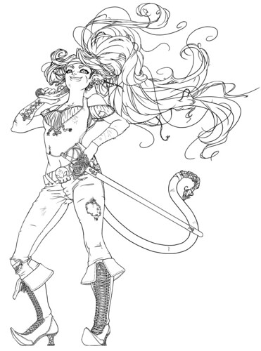 Pirate Vixen LineArt