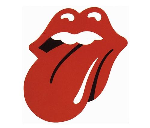 Stones logo, signed print