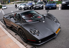 Pagani Zonda F (Martin Vincent) Tags: black cars automotive casino monaco f carlo monte zonda supercars pagani horacio hoteldeparis zondaf placeducasino carsighting