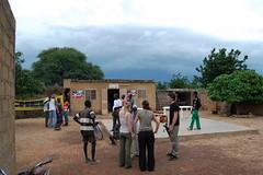 Die Dorfkneipe und das aufziehende Gewitter
