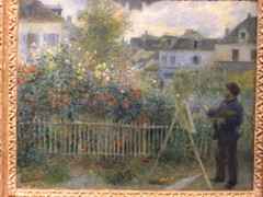 Monet Painting in his Garden at Argenteuil - P-A Renoir (sftrajan) Tags: museum painting connecticut muse september monet impressionism museo artmuseum 2008 hartford muzeum renoir  nineteenthcentury  wadsworthatheneum frenchimpressionism thewadsworth