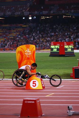 田径男子200米T53级:中国选手余世然26秒64夺冠