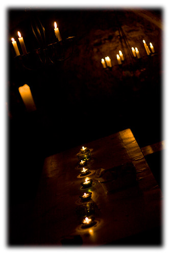 wine cellar - candle lit