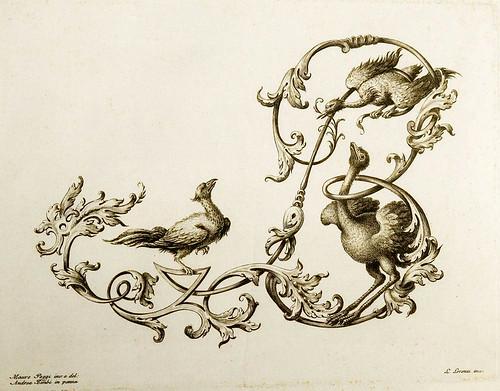 20-Letra B- Poggi Mauro 1750 - Alfabeto di lettere iniziali