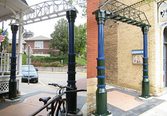 "<p>Title: ""Northfield Bridges""<br/>Sculptor: <br/><br/>Accessible to Public: yes, outdoors<br/>Location: Division Street, Northfield<br/>Ownership: City of Northfield<br/>Medium: welded and painted steel<br/>Dimension: large<br/>Provenance: <br/>Year of Installation:<br/>Physical Condition: good </p>"
