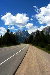 Teton Majesties (hannahhunt1) Tags: road mountains pine clouds teton