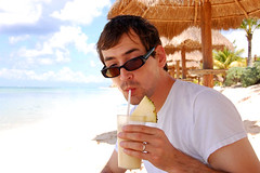 Josh enjoys pina coladas now