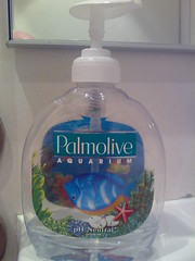 Dead fish floating in Palmolive Aquarium bottle
