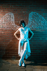 Photo5 Crayon - not selected (neilcreek) Tags: red white brick wall angel night costume wings cosplay annie photo5