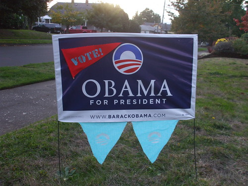 Pennant-ed yard sign