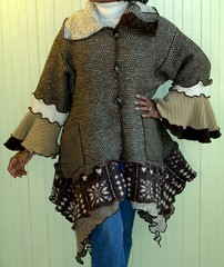 Chocolate Tweed Sweater Coat (brendaabdullah) Tags: diy women jacket etsy deconstructed reconstructed restyled recycledwoolsweaters brendaabdullah oneofakindfashion