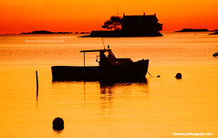 Sunset at Stony Creek, Connecticut (Jeff Wignall) Tags: travel sunset orange color silhouette yellow boats gold coast harbor twilight nikon connecticut tide newengland coastal branford stonycreek afterglow longislandsound wignall thimbleislands lobsterfishing wowiekazowie wwwjeffwignallcom
