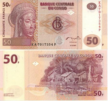 Congo DR - 50 Francs 2007 (G&D)