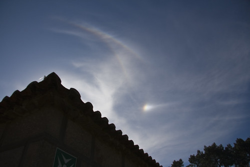 22 degree halo, upper tangent halo and sundog