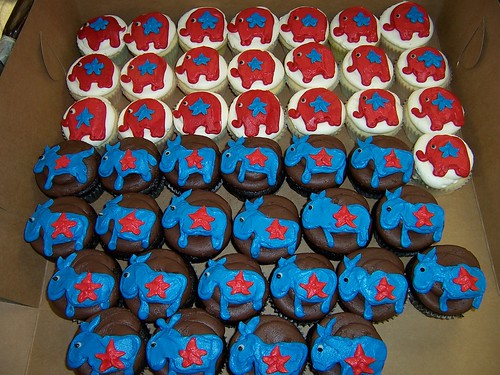 Political Cupcakes  by Sticky Fingers Bakery.
